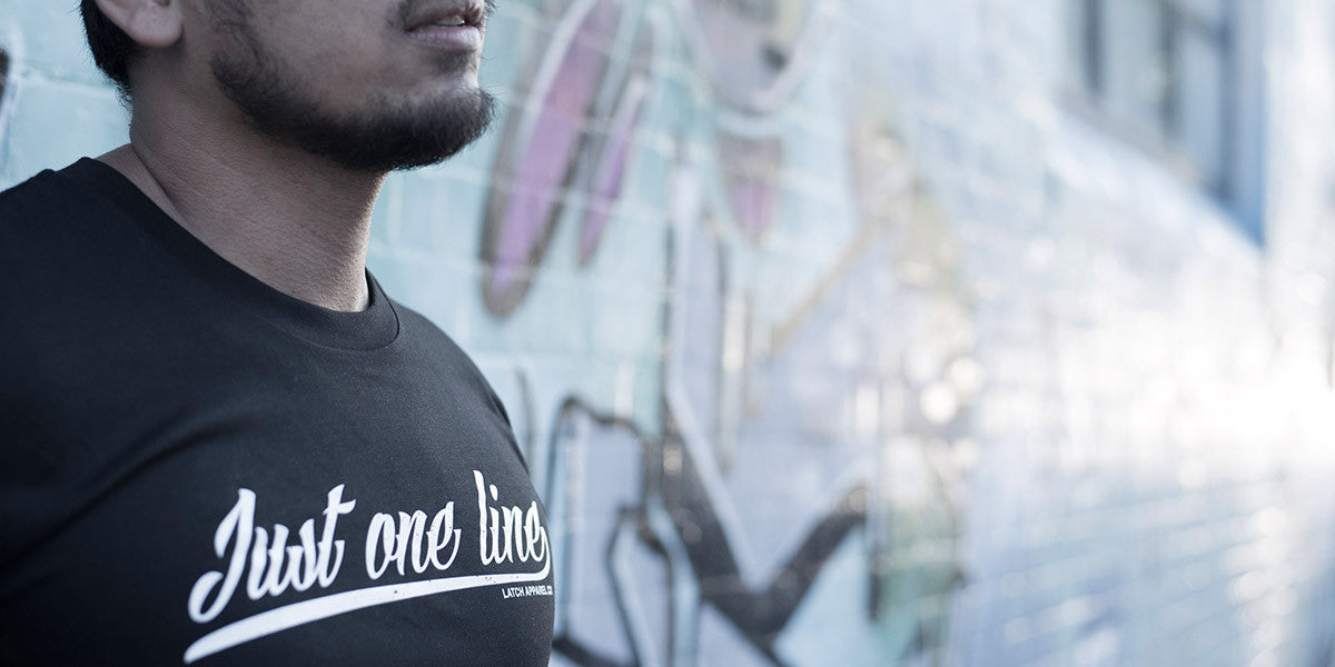 latch apparel one liner tee