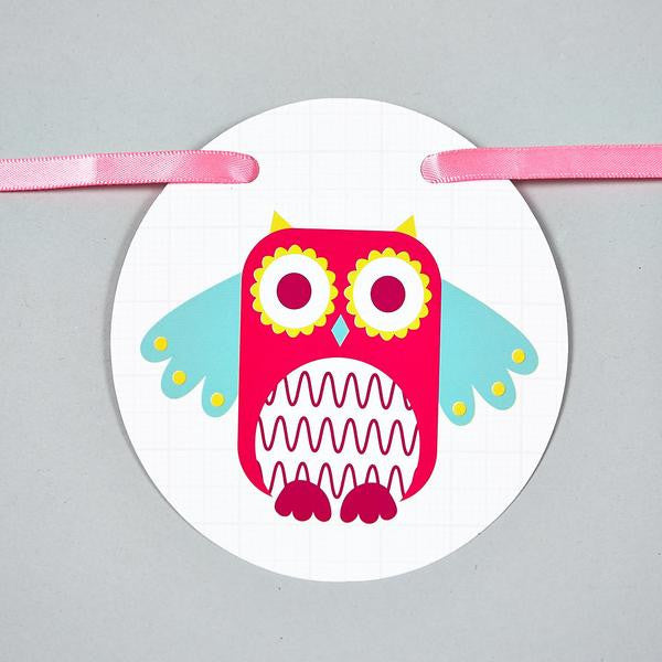Floss and Rock – Personalised Owl Bunting