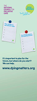 Dying Matters Banner - Five things to do before I die
