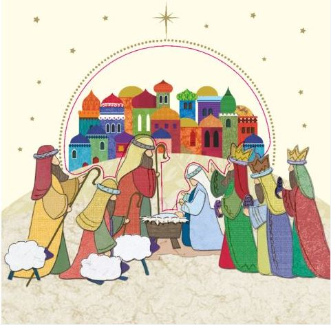 Greeting the New Born King Christmas Cards - Pack of 10