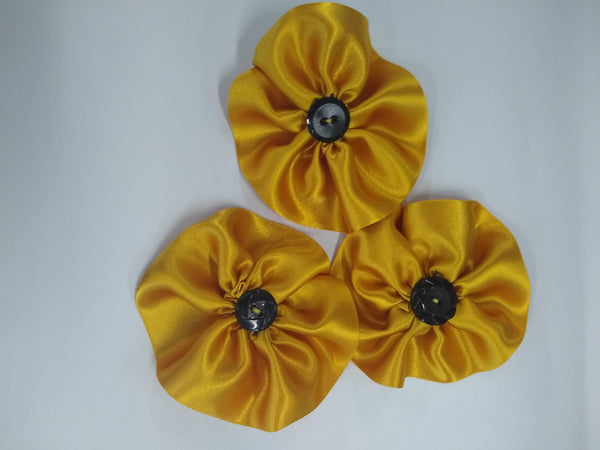 Ribbon Sunflower Brooch - pin badge