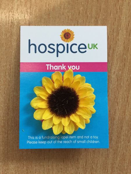 Hospice UK Sunflower Pin Badge