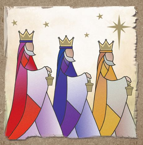 Modern Kings Christmas Cards - Pack of 10