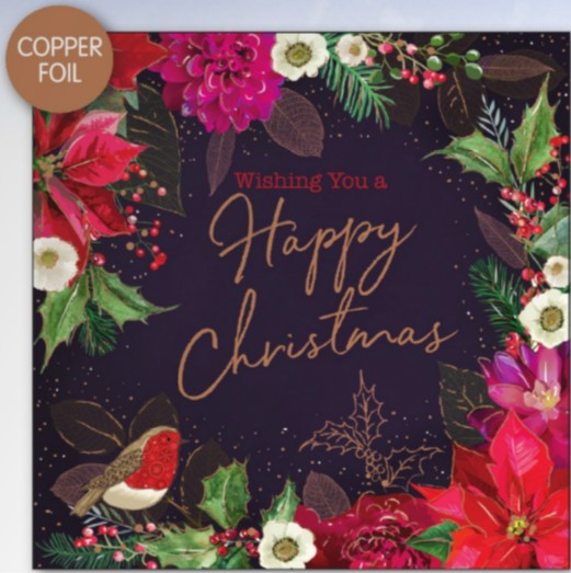 Wishing You A Happy Christmas Christmas Cards - Pack of 10
