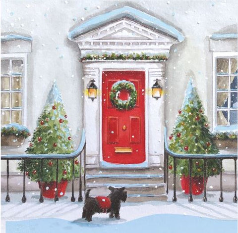 Waiting at the Door Christmas Cards - Pack of 10