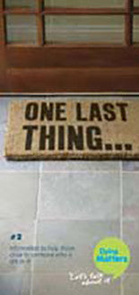 50 Number 2: 'One last thing' Leaflets