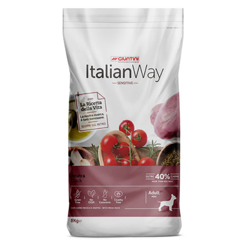 ItalianWay Cane Piccolo Sensitive ANATRA 8kg