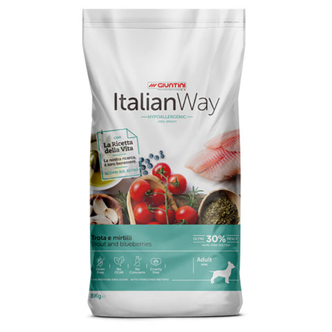 ItalianWay Cane Piccolo Ideal TROTA E MIRTILLI 8kg