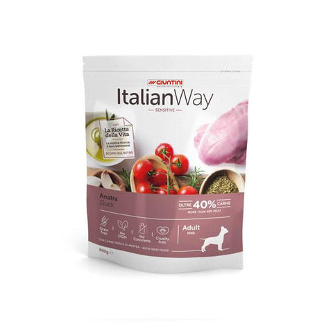 ItalianWay Cane Piccolo Sensitive ANATRA 800g