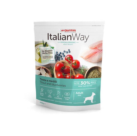 ItalianWay Cane Piccolo Ideal TROTA E MIRTILLI 1.5kg