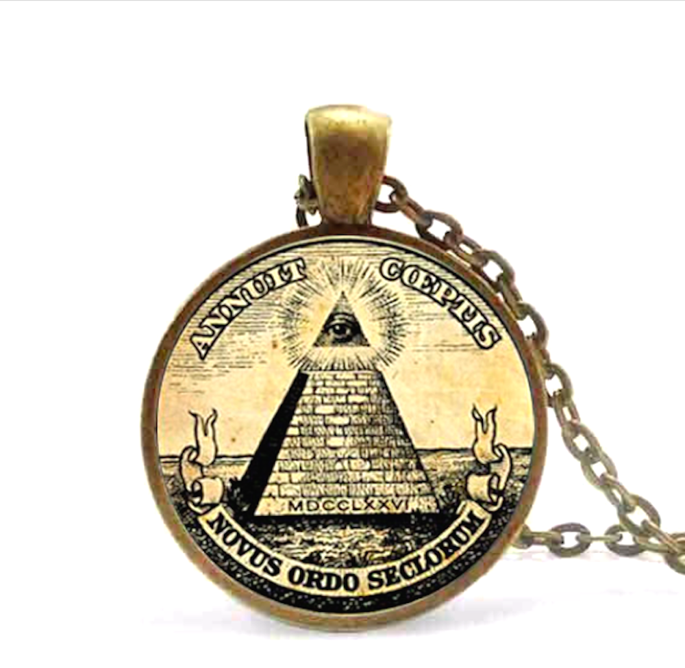 Masonic Free Mason Illuminati Freemason Necklace Collectible Jewelry Gift - Scruffy Chic