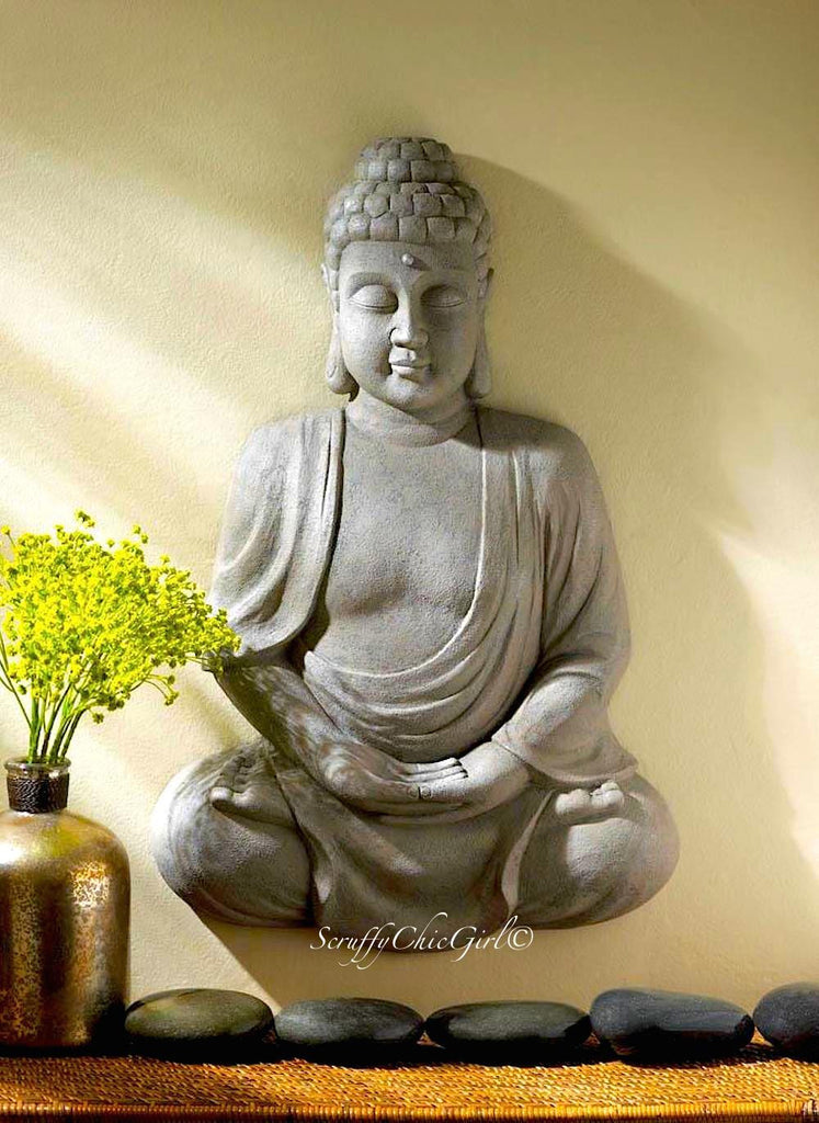 BUDDHA Wall Decor Buddha Wall Plaque Buddha Wall Art - Scruffy Chic