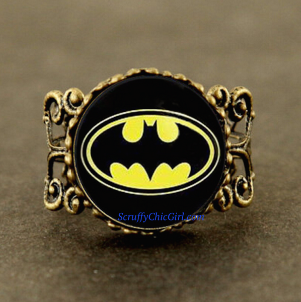 Cartoon Batman Style Ring Jewelry Gift Collectible - Scruffy Chic