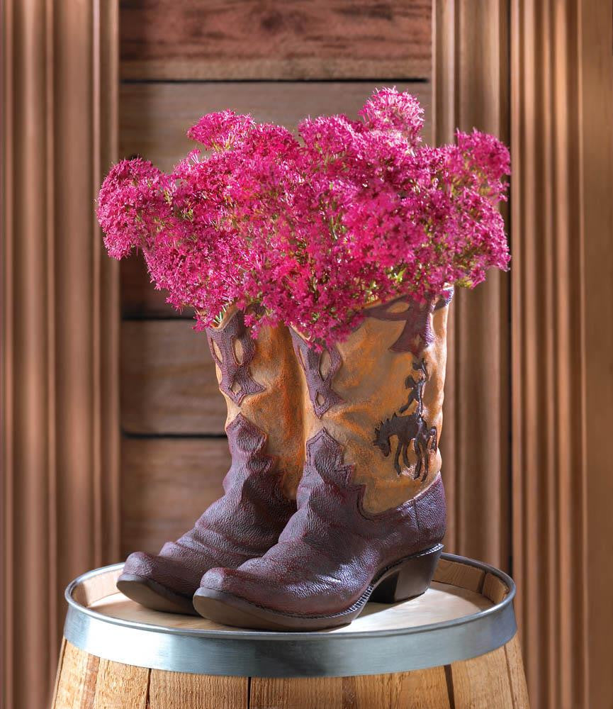 Country Western Cowboy Boots Planter - Scruffy Chic