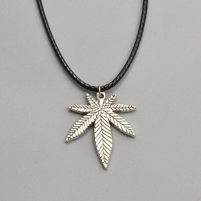 Silver Leaf Charm Necklace - Scruffy Chic