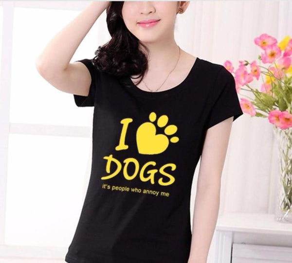I Love DOGS It's PEOPLE That ANNOY Me Dog Lovers T-Shirt - Scruffy Chic