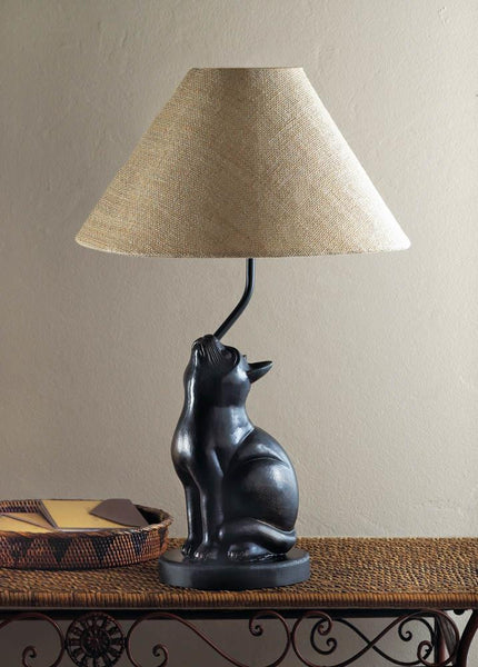 Cat Lamp and Lamp Shade - Scruffy Chic