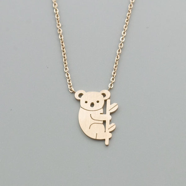 Adorable Koala Bear Charm Necklace - Scruffy Chic