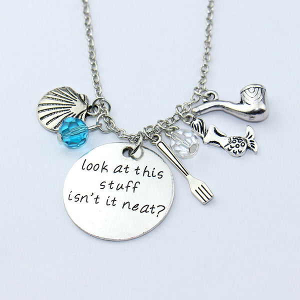 Little Mermaid Necklace Ariel Inspired Look at this stuff isn't it neat? The Little Mermaid Jewelry Necklace Gift - Scruffy Chic