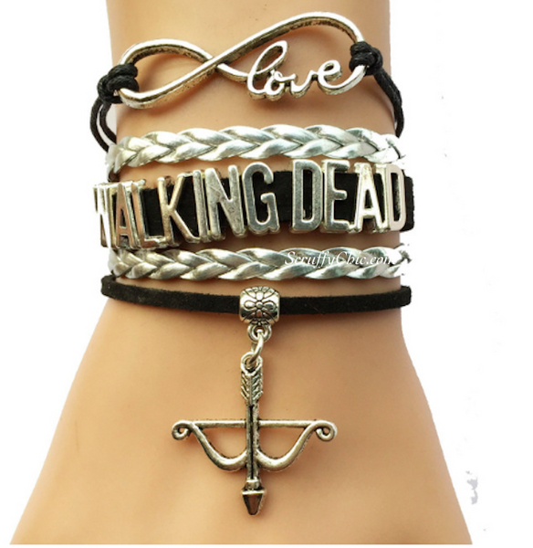 Walking Dead Bow Arrow Bracelet - Scruffy Chic