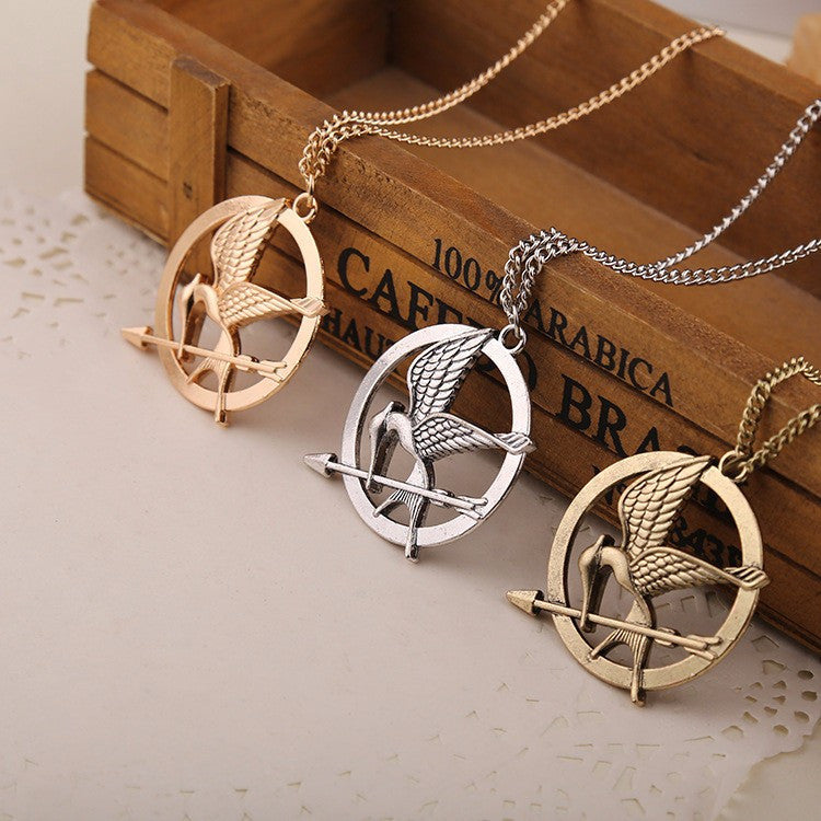 Hunger Games MockingJay Bird Necklace Jewelry Gift Set of 3 Necklaces - Scruffy Chic