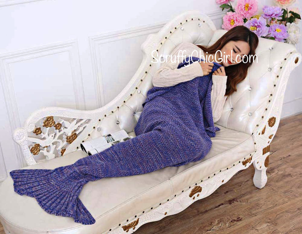 Women's Girls Ariel Mermaid Blanket - Scruffy Chic