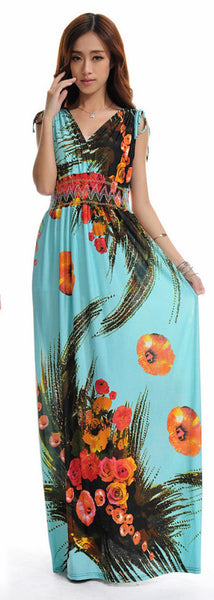 Hawaii Floral Maxi Dress Free Shipping - Scruffy Chic