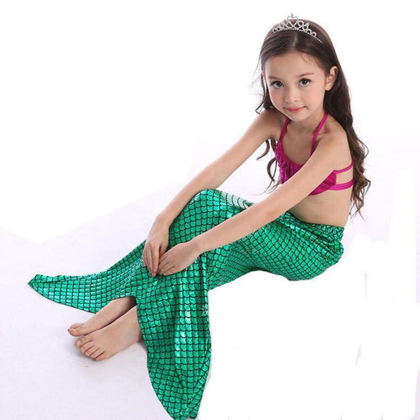 aacb4557ead8 A Little Mermaid Tail Girls Swimsuit Costume Set Mermaid Dress Outfit –  Scruffy Chic Girl