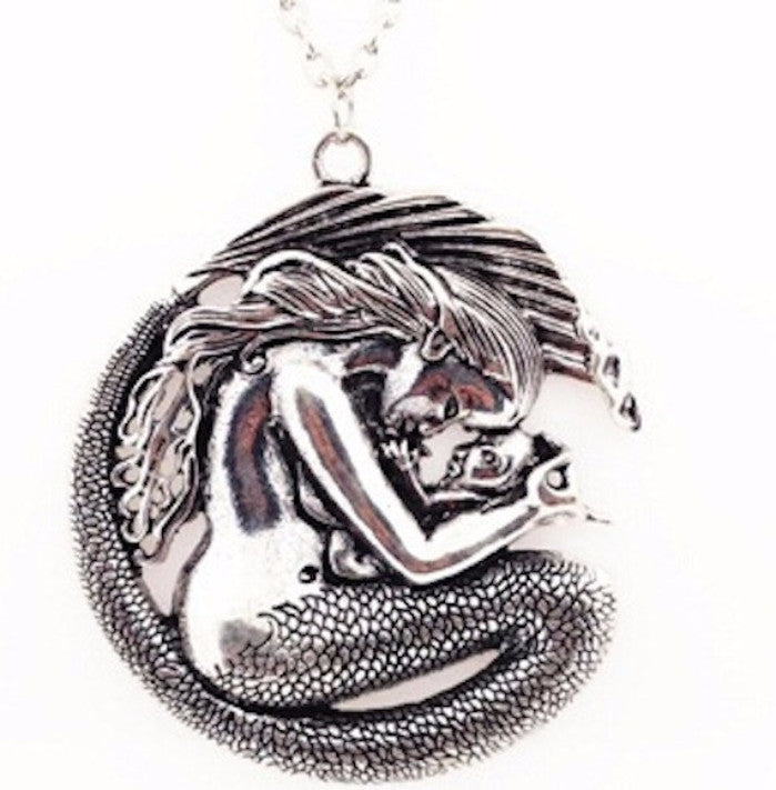 Mermaid Mom and Baby Necklace Pendant Jewelry Gift - Scruffy Chic