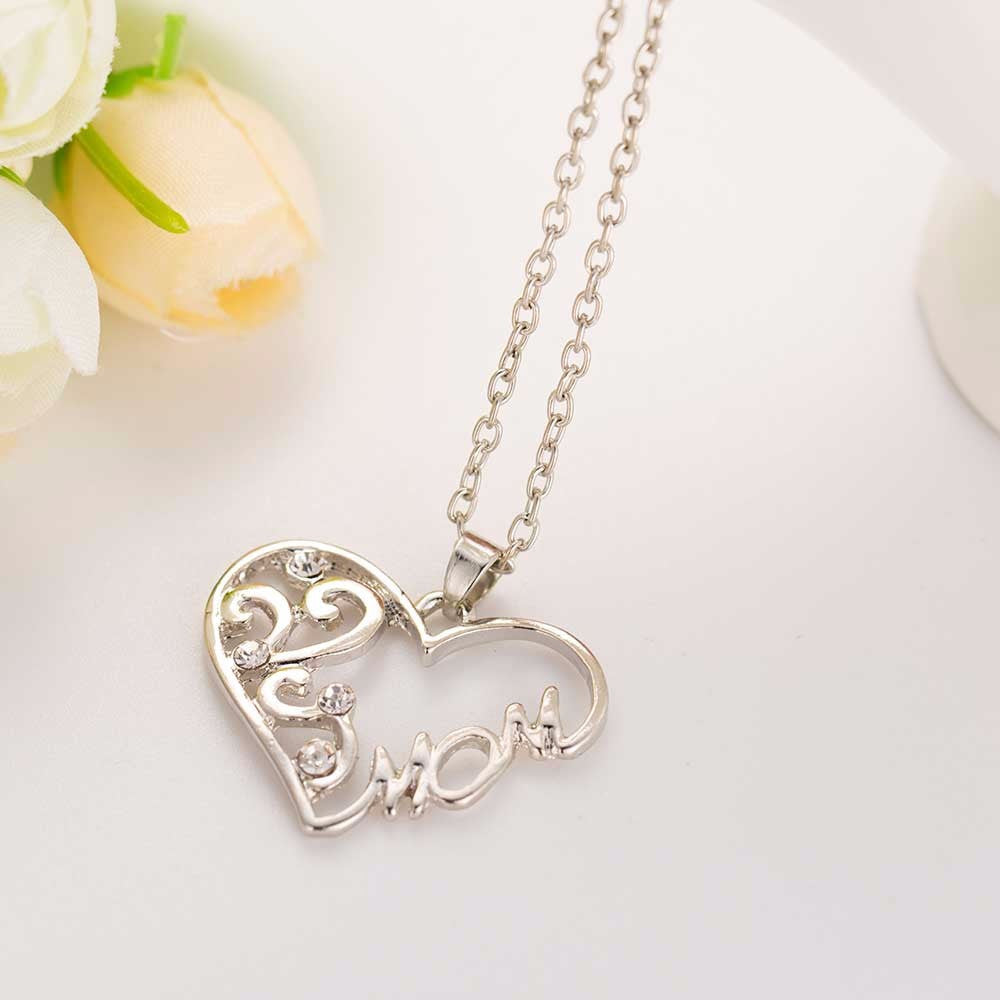 Shimmering Silver Pendant Necklace for Mom - Scruffy Chic