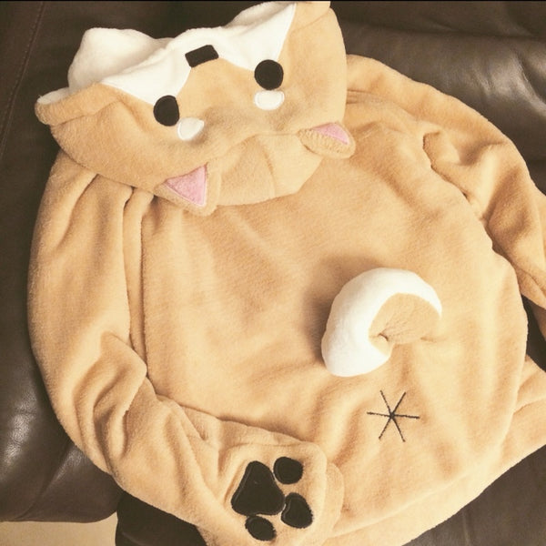 Dog Ears Hoodie Kawaii Cosplay anime ears Sweater Tail - Scruffy Chic
