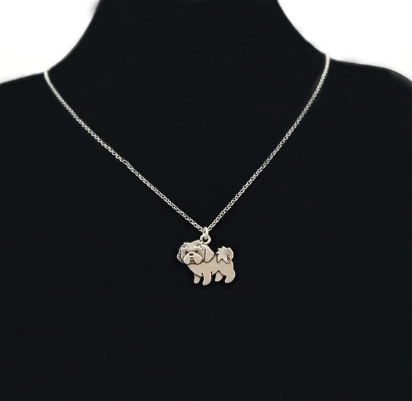 Shih Tzu Dog Lover Necklace - Scruffy Chic