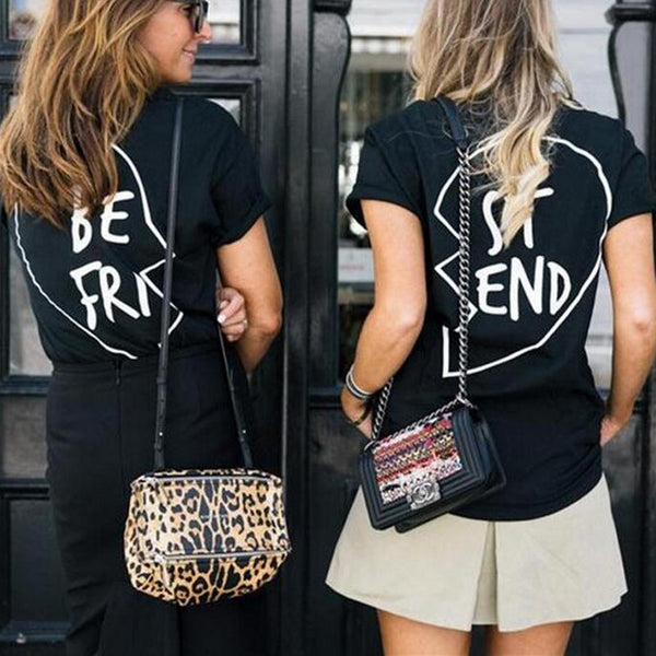 Best Friends T-Shirt Casual Heart Shirt Top - Scruffy Chic