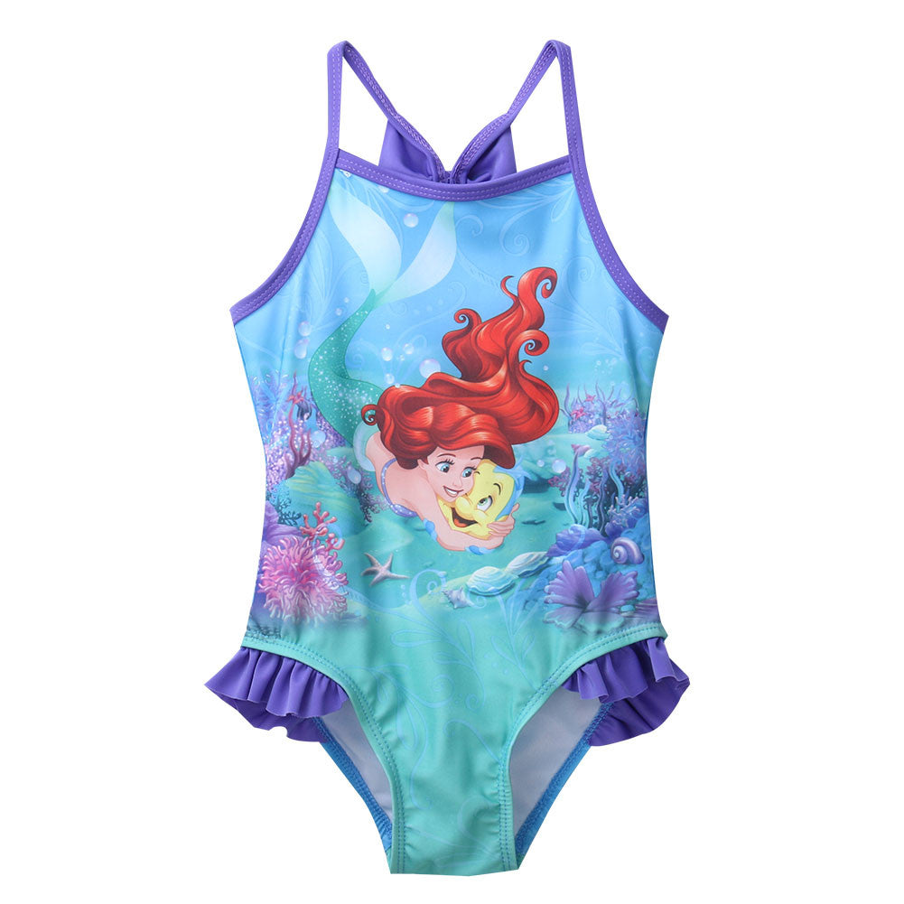 Girls Little Mermaid Swimsuit one piece bathing suit - Scruffy Chic