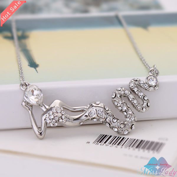 Crystal Mermaid Necklace - Scruffy Chic