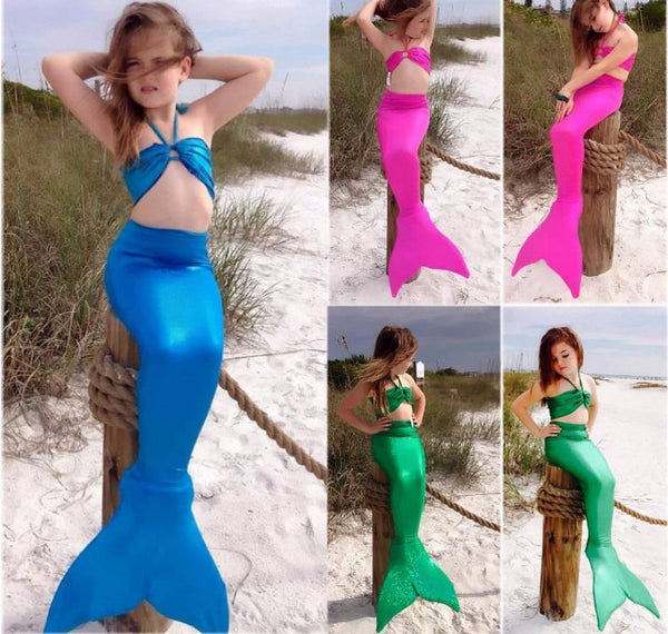 Mermaid Tail Swimsuit for Children Kids Swimwear Bikini Bathing Suit Swimsuit Swimming Costume - Scruffy Chic