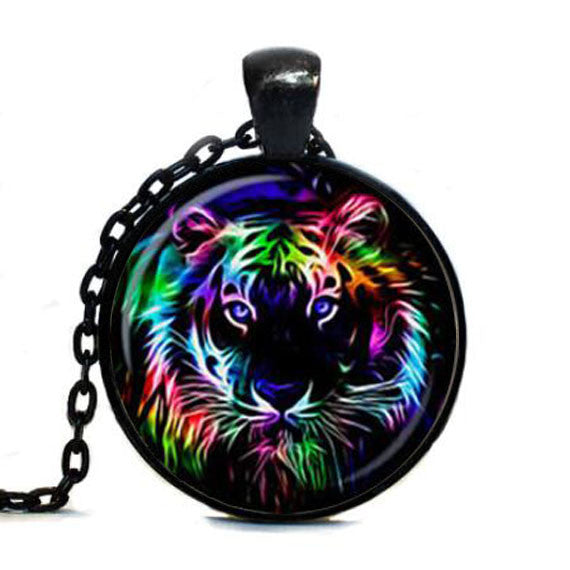 Rainbow Tiger Necklace Pendant Jewelry Gift - Scruffy Chic