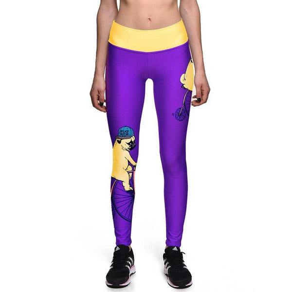 Cat Leggings Alice in Wonderland Cheshire cat 3D Workout Fitness Leggings Pants - Scruffy Chic
