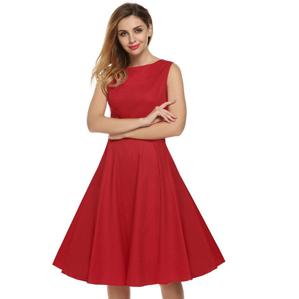 Retro Vintage 1950s 60s Rockabilly Pinup Girl Floral Swing Summer Dresses Vestidos Easter Dress - Scruffy Chic