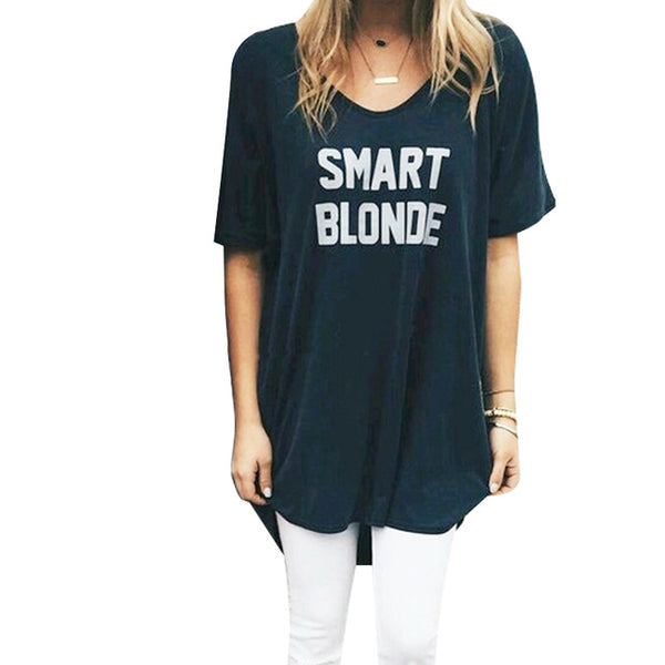 BFF Best Friends FUN Brunette Smart Blonde Tee Shirt T-shirt T Shirt - Scruffy Chic