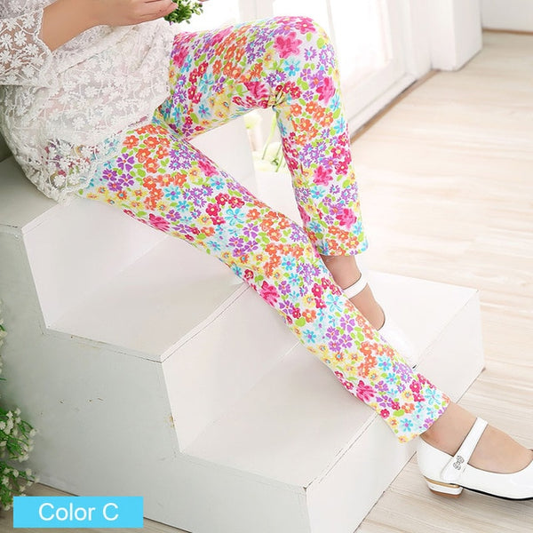 Baby Floral Leggings Kids Children Flower Toddler Classic Leggings Pants - Scruffy Chic
