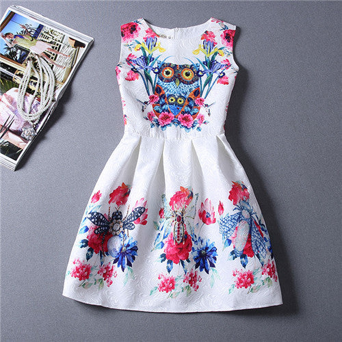 Adorable Cartoon Floral Princess Dress for Kids - Scruffy Chic