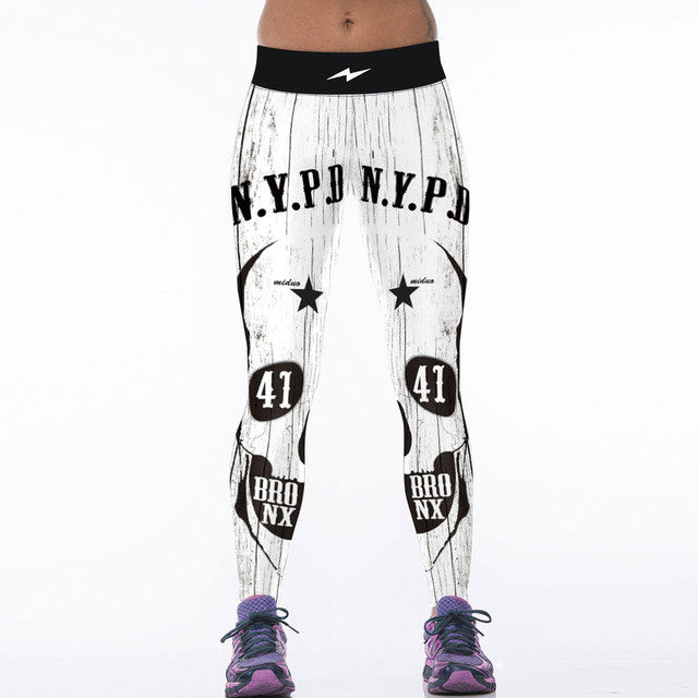 ROAR Leopard Tiger Leggings 3D Yoga Pants Skully Snake Bodybuilding Pants - Scruffy Chic
