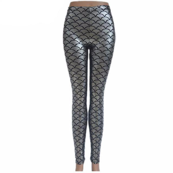 Mermaid Legging 3D Fish Scale Printed Workout Fitness Leggings Clothing Pants Mermaid Leggings - Scruffy Chic