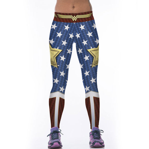 Wonder Woman Legging 3D Star Printed Workout Fitness Leggings Clothing Pants - Scruffy Chic