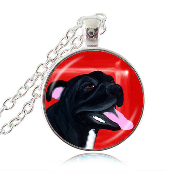 Pit Bull Dog Lovers Necklace American Pitbull Jewelry - Scruffy Chic