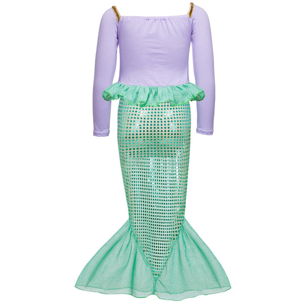 Little Mermaid Tail Dress Costume Set Mermaid Dress Outfit - Scruffy Chic