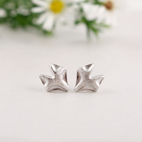 Fox Stud Earrings Animal Jewelry - Scruffy Chic