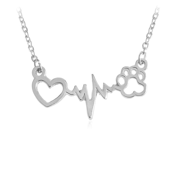 Animal Lovers Heartbeat Necklace - Scruffy Chic
