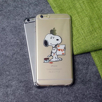 Cute Puppy Dog Baby Cartoon Snoopy Cell Phone Case for iPhone 5 5S SE 6S 6 7 Plus - Scruffy Chic